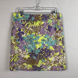 Talbots Abstract Floral Skirt Womens sz 10